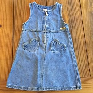 Gymboree Denim Overall Dress, Size 5